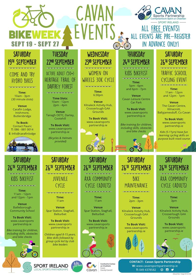 Bikeweek 2020 Poster.